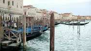 Gondolas in Venice, steadicam shot Stock Footage