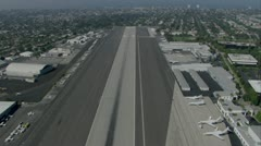 Runway approach Stock Footage