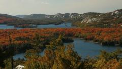 Lakes of Killarney in autumn - stock footage