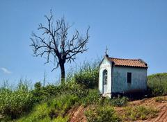 small church on the roadside - stock photo