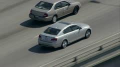 Aerial Sedan - stock footage