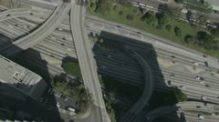Aerial Overpasses Stock Footage