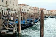 Gondolas in Venice, steadicam shot Stock Footage