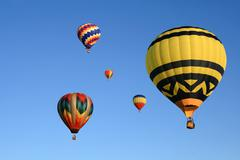 Hot air balloons festival - stock photo