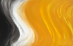 Abstract oil-painted curves - stock illustration