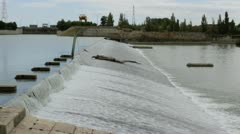 Diversion Dam in a River Stock Footage