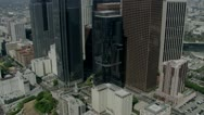 City Buildings aerial 3 Stock Footage