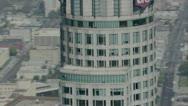 City Buildings  aerial 9 Stock Footage