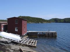 Stock Photo of stage and warf in newfoundland