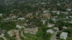 Luxury Suburb aerial 1 - stock footage