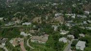 Luxury Suburb aerial 1 Stock Footage