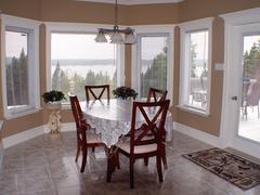 Interior view of diningroom Stock Photos