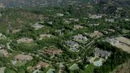 Luxury Suburb aerial 5 Stock Footage