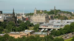 Edinburgh cityscape - stock footage