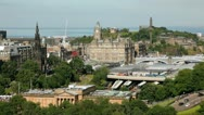 Stock Video Footage of Edinburgh cityscape