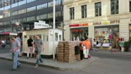 Checkpoint Charlie in Berlin Germany Stock Footage