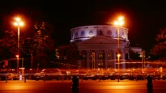 The Romanian Athenaeum In Bucharest, Romania. - stock footage