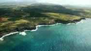 Stock Video Footage of Aerial Hawaii 1