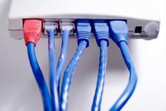 network hub - stock photo