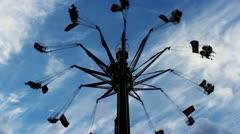 carousel luna park - stock footage