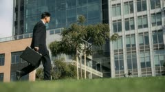 Man with Attache 1 Stock Footage