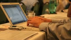 Seminar Laptop - stock footage