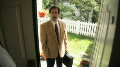door salesman 6 - stock footage