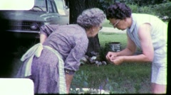 Old Woman HERB Garden Natural Medicine 1960s Vintage Film Home Movie  4902 Stock Footage