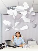 Office worker and annoying documentation Stock Photos