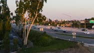 Orange County CA 405-55 freeway time lapse HD tight Stock Footage
