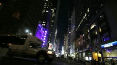 Times Square PM - stock footage