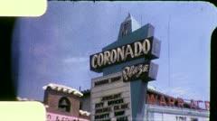 Retail Shopping Mall Suburban Center Vintage Film Retro Film Old Home Movie 4905 Stock Footage