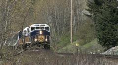 Rocky Mountaineer, Close Pass engine Stock Footage