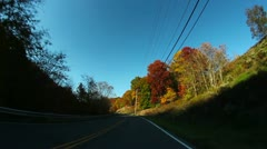 Pennsylvania Backroads Driving POV - stock footage
