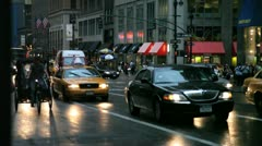 City Traffic PM 3 Stock Footage