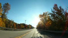 Pennsylvania Backroads Driving POV Stock Footage