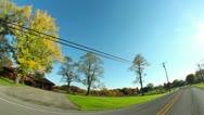 Pennsylvania Backroads Driving POV Stock Footage
