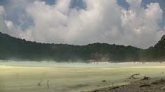 Kawah putih crater in West Java Stock Footage
