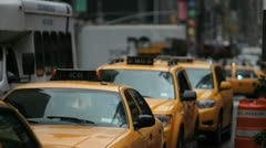 Taxi Traffic 1 - stock footage