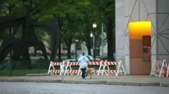 Street Barricades Stock Footage