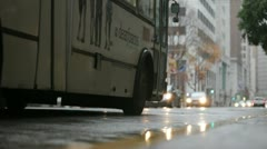 Passing bus Stock Footage