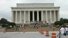 Lincoln Memorial 3 - stock footage
