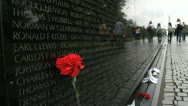 Stock Video Footage of Vietnam Memorial