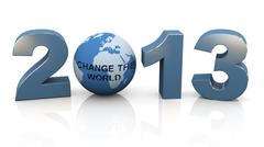 Stock Illustration of 2013 - change the world