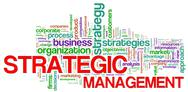 Strategic management word tags Stock Illustration