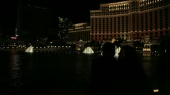 Bellagio Fountain 7 Stock Footage