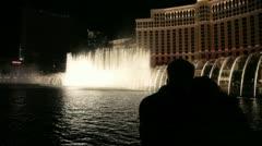 Bellagio Fountain 11 Stock Footage