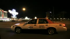 Vegas Taxi Ride Stock Footage