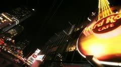 Vegas Hard Rock Stock Footage