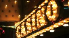 Casino Lights - stock footage